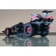 Monster steering black car
